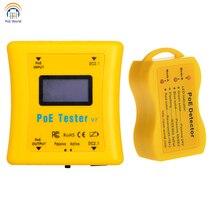 PoE Tester cep boyutlu PoE dedektörü paketi Inline PoE voltaj ve akım test cihazı PoE dedektörü CCTV kurulum