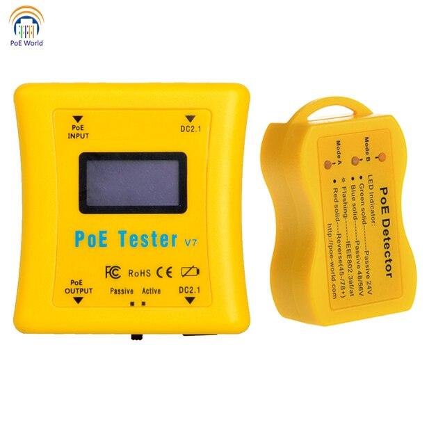 Testeur PoE paquet de détecteur PoE de poche testeur de tension et de courant PoE en ligne détecteur PoE pour installation de vidéosurveillance
