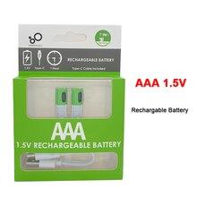 Новые USB AAA перезаряжаемые батареи 1,5 в 550 мВт-ч литий-ионная батарея для пульта дистанционного управления электрическая игрушечная батарея +...