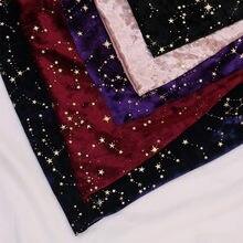 50*145cm or bronzant diamant étoile velours tissu élastique doux soie velours tissu bricolage robe portefeuille nappe sac à main patchwork