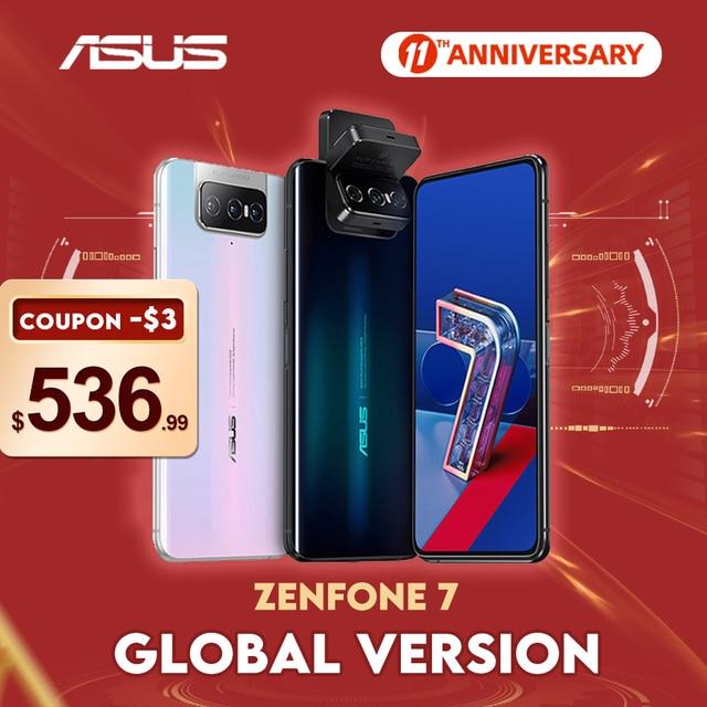 ASUS Zenfone 7/7 Pro 8GB RAM 128/256GB ROM Snapdragon 865/865Plus 5000mAh NFC Android Q 90Hz 5G Smartphone