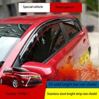 2014-2018 년에 특별히 사용됨 Toyota to YARiS L 특별 창 비 눈썹 장식을 차단하는 비