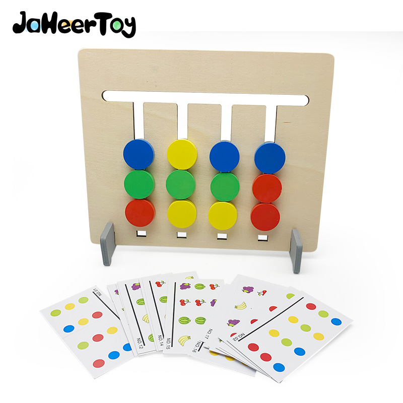 JaheerToy Two-way Game Of Color And Fruit Montessori Education Learn Toys For Children Wooden Toys