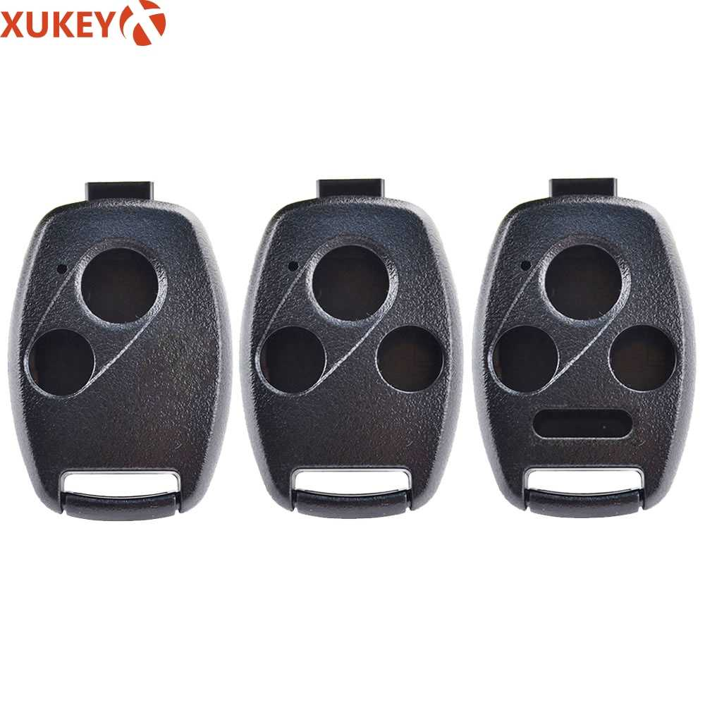 2/3/4 Knoppen Afstandsbediening Auto Fob Sleutel Shell Case Voor Honda Accord Civic Crv Crz Jazz Frv Pilot Insight ridgeline Crosstour Odyssey