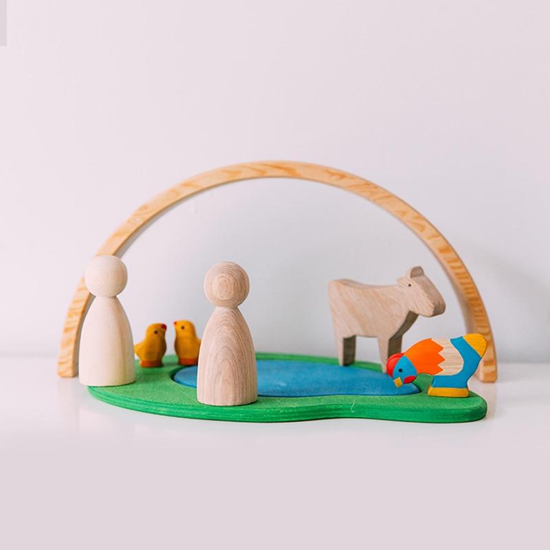 BBK SPIELZEUG Baby Spielzeug Buche Baby Aufklärung Spielzeug, Tiere, Jungen und Mädchen zu Import Massivholz Bausteine - 3
