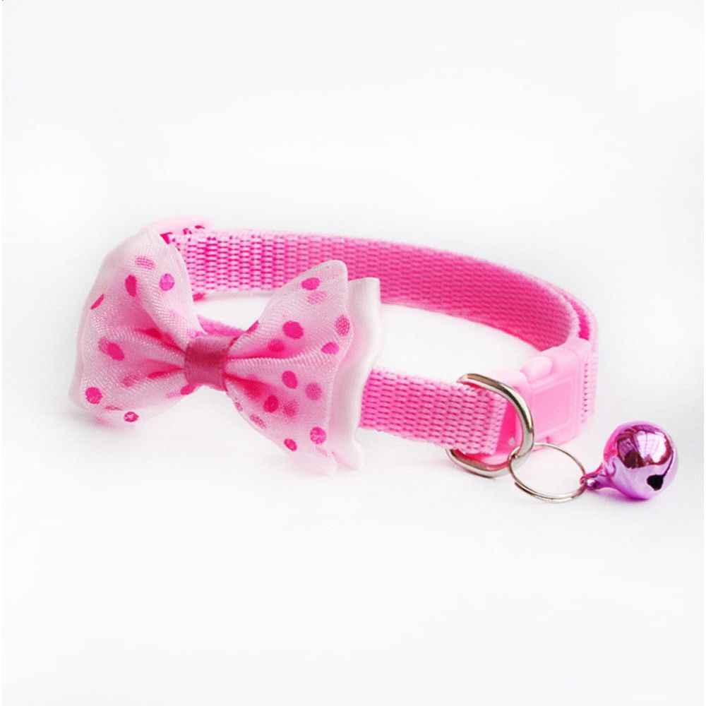 1 PC Permen Warna Dapat Disesuaikan Bell Ikatan Simpul Dasi Kerah Imut Kawaii Bow Tie Bell Kucing Anjing Hewan Peliharaan Pasokan gratis Pengiriman