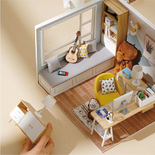 DIY Миниатюрные кукольные домики набор современный стиль модель деревянный маленький домик Roombox подарок на день рождения игрушки для детей к...
