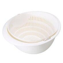 Двойная пластиковая корзина для слива кухонная миска лапша овощи фрукты рис дуршлаг домашний бассейн сушилка Органайзер контейнер