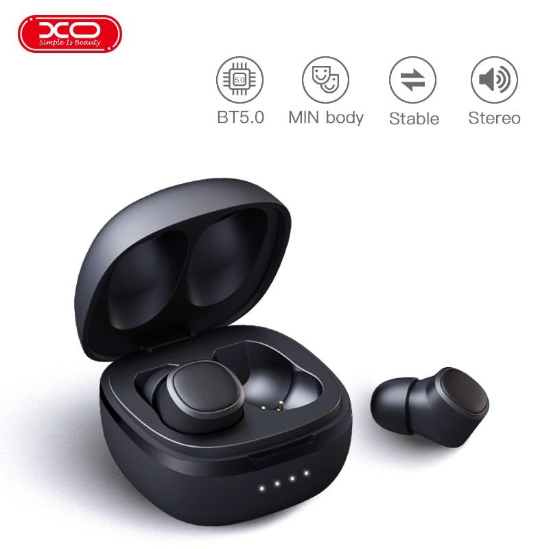 XO T10 TWS Wireless Bluetooth earphones 3D Stereo Sports Wireless Bluetooth v5 0 Earphones with Dual Microphone earbuds headset in Bluetooth Earphones Headphones from Consumer Electronics