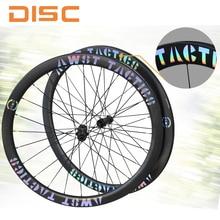 700c Road Bike Carbon Wheels UD Matte UCI Quality Rim Tubeless Disc Brake CX Rims Cyclocross Wheel Bicycle Gravel Center Lock