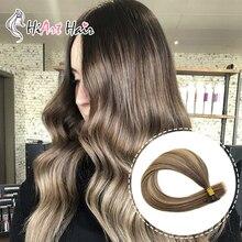 HiArt 1 г/локон, волосы для наращивания на плоских кончиках, кератиновые волосы для наращивания, натуральные кератиновые накладные волосы, двойные накладные Человеческие волосы remy