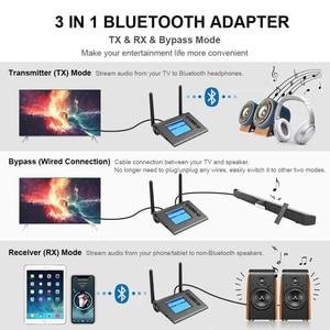 Image 2 - 70M uzun menzilli Bluetooth ses alıcısı verici TV anten ile Aptx HD düşük gecikme Spdif optik AUX kablosuz adaptörü