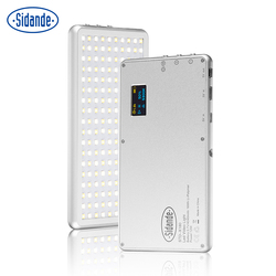 Sidande X180 Metal Mini Luz De Vídeo LED 3200 K-5600 K Digital Escurecimento Lâmpada Suplemento