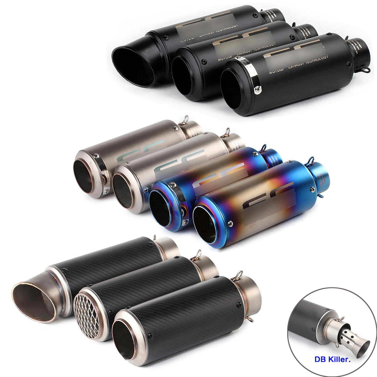51MM 60MM Universal Motorcycle Exhaust Muffler Carbon Fiber Escape Exhaust DB Killer Dirt Bike Scooter For SC Project Bws PCX