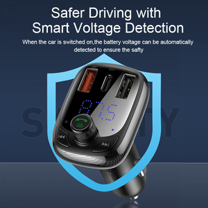 Image 5 - Baseus FM Transmitter Modulator Bluetooth 5.0 Handsfree Car Kit Audio MP3 Player With PPS QC3.0 QC4.0 5A Fast Car Auto Charger