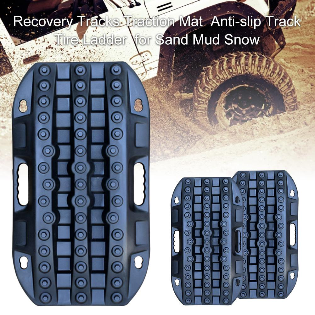 Recovery Tracks Traction Mat Anti-slip Track Tire Ladder Automobile Rescue Traction Mat For Sand Mud Snow 5t Bearing Capacity(China)