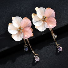 Earrings For Women Fashion Simple Transparent Flowers Stud Earrings Women Crystal Geometric Jewelry Accessories Gifts For Women