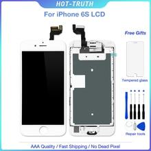 5 pièces/lot écran LCD pour iPhone 6G 6S ensemble complet affichage numériseur assemblée remplacement avec bouton accueil + caméra avant + haut parleur