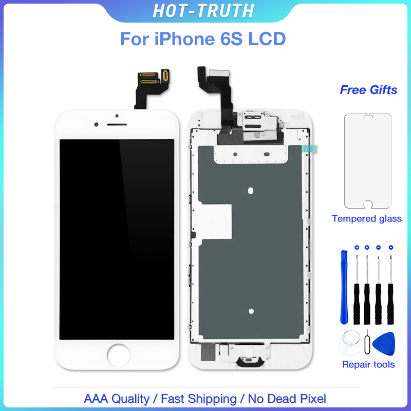5Pcs/Lot LCD Screen for iPhone 6G 6S Full Set Display Digitizer Assembly Replacement with Home Button+Front Camera+Speaker image