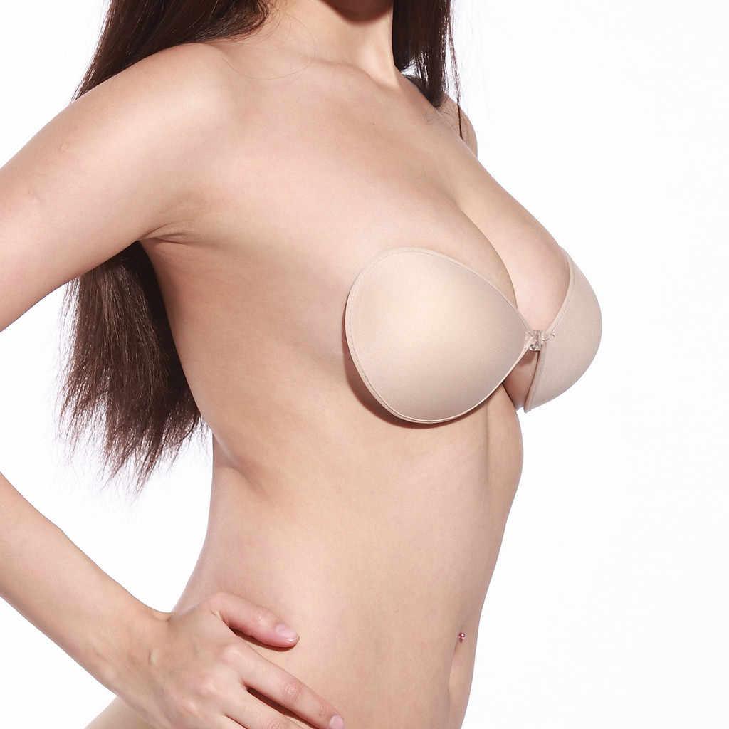 Push Up pezón cubierta Invisible adhesivo Sexy ropa interior sujetador Levantamiento de pecho cinta íntima accesorios mujer silicona reutilizable