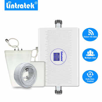 ¡Lintratek nuevo 70dB GSM 4G Amplificador de señal LTE 1800mhz 900mhz AGC/ALC Amplificador Kit Antena 4G GSM repetidor de banda Dual ampli!