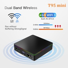 T95 Mini Media-Player Smart-Tv-Box Cherry-Trail Z8350 Windows-10 Bluetooth LAN Wifi 1000M