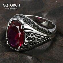 รับประกัน 925 เงินแหวนตุรกีสำหรับผู้ชายและผู้หญิง Zircon หิน Retro VINTAGE แหวน Fijne Sieraden