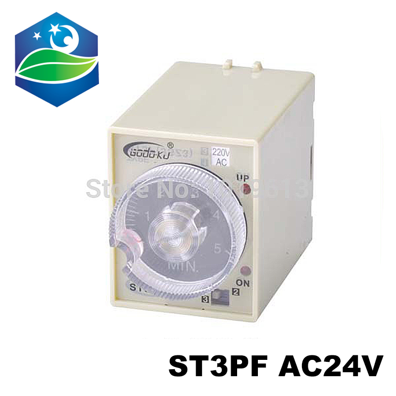 ST3PF זמן ממסר עיכוב טיימר ממסר מיני זמן ממסר 24v ac