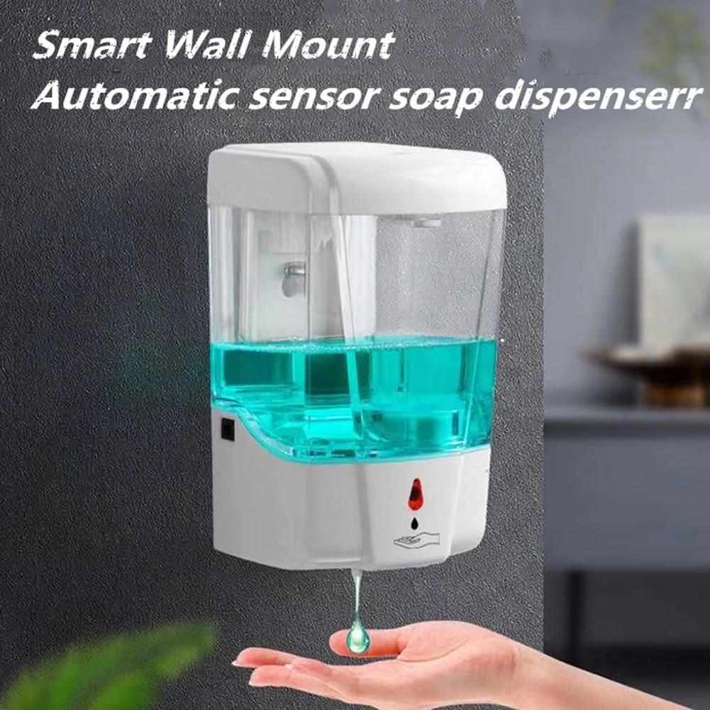 700ml Auto Liquid Soap Dispenser Wall Mounted Sensor Hand Washing Container Bathroom Accessories Hand Sanatizer 1