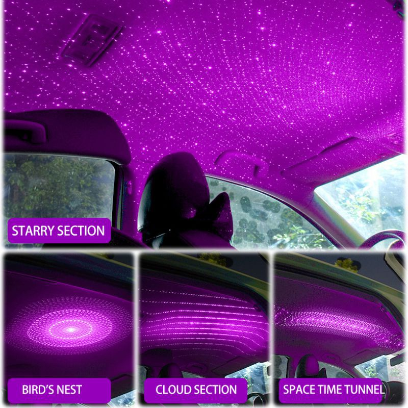 Roof Star Projection Light Romantic USB Night Light Car Atmosphere Light Adjustable And Flexible Car And Home Ceiling Decoration