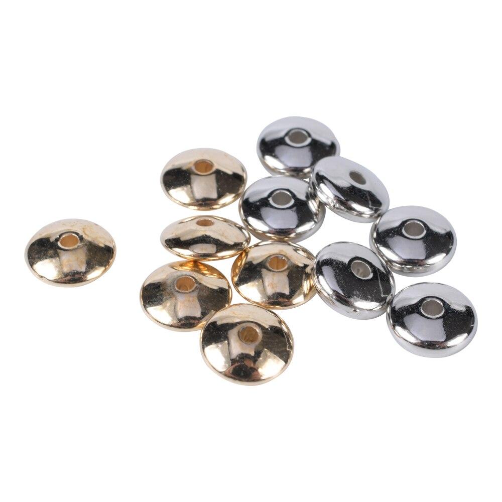 Плоские пластиковые разделители для бусин, золотые Родиевые разделители для бусин размером 4-18 мм, аксессуары для поделок, материалы для изг...