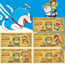 Японские золотые банкноты Doraemon, пластиковые банкноты, коллекционные предметы