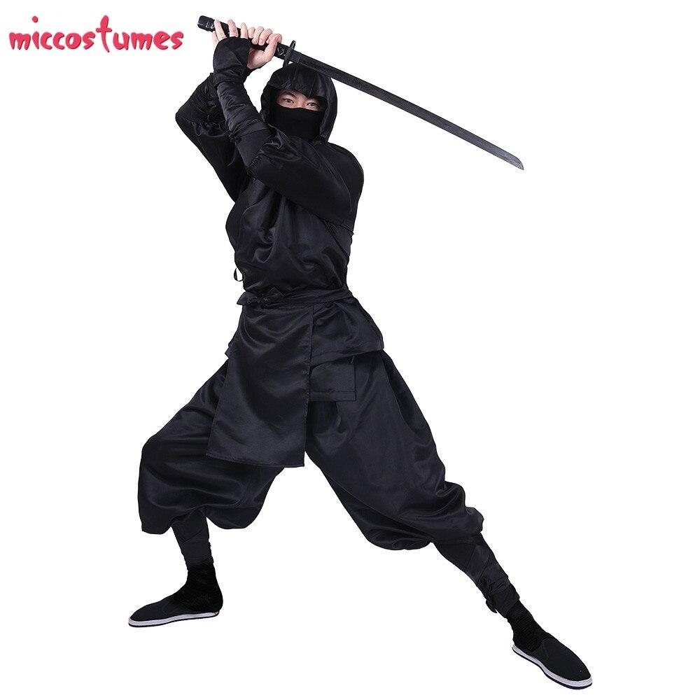 Ninja Cosplay Japanese Ninja Bushido Cosplay Costume for Adults with Hood and socks Halloween Costumes for Men 2