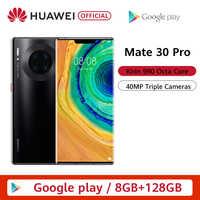 Original HUAWEI Mate 30 Pro 8GB 128GB 256GB Smartphone 40MP Triple Kameras 32MP Vordere Kamera 6.53 ''bildschirm Kirin 990 Mate30 pro
