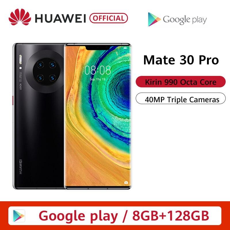 Cep telefonları ve Telekomünikasyon Ürünleri'ten Cep Telefonları'de Orijinal HUAWEI Mate 30 Pro 8GB 128GB 256GB Smartphone 40MP üçlü kameralar 32MP ön kamera 6.53 ''ekran Kirin 990 Mate30 pro