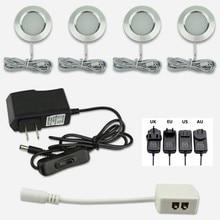 Светодиодные лампы для шкафов, 12 В, 3 Вт