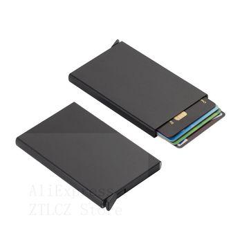 New 2020 Stainless Steel Credit Card Holder Men Slim Anti Protect Travel ID Cardholder Women Rfid Wallet Metal Case Porte Carte - discount item  10% OFF Wallets & Holders