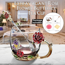 1 Набор, эмалированная кофейная чашка, розовая кружка, Цветочная чайная питьевая стеклянная чашка с ручкой для горячих и холодных напитков с крышкой, салфетка для протирания