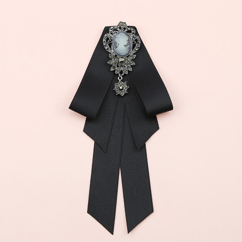 Elegant Men Women Business Wedding Party Sweater Shirt Bow Tie Cravat Accessory Formal Alloy Rhinestone Pearl Bead Ribbon Bowtie