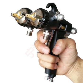 цена на two head spray gun dual nozzle chrome spray gun double head nano mirror plating pneumatic painting tools manual nano sprayer