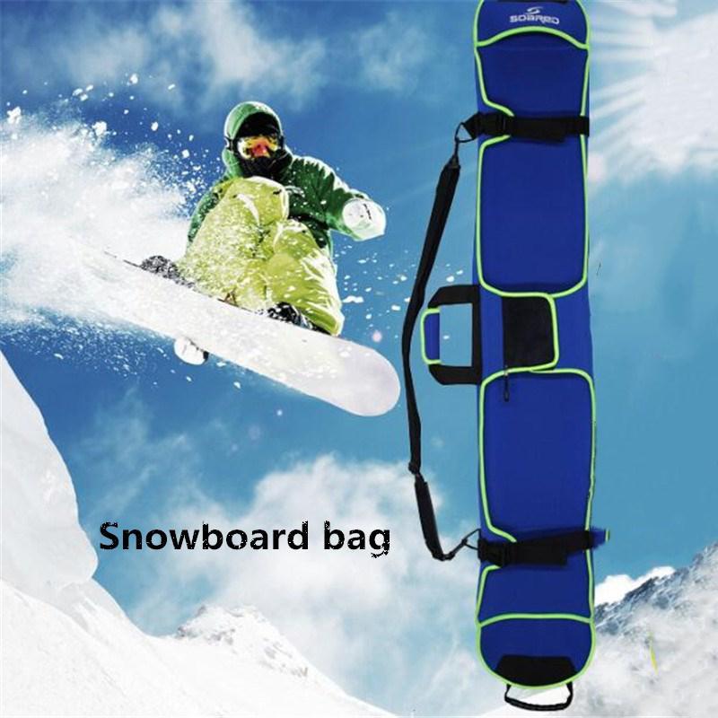 HobbyLane Skiing Snowboard Bag 155cm Scratch-Resistant Monoboard Plate Protective Case Dumpling Skin Ski Board Bag 4 Colors