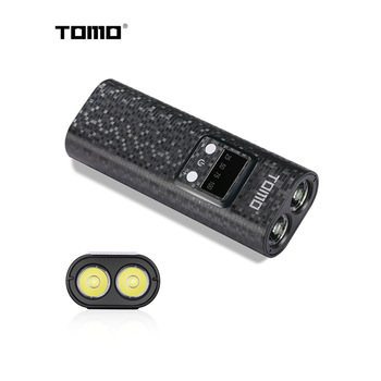 TOMO Q2 18650 battery charger DIY power bank case Portable battery Storage box LCD power display Double USB port with Flashlight 1