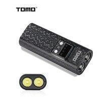 Зарядное устройство TOMO Q2 18650, чехол для внешнего аккумулятора с ЖК-дисплеем, двумя usb-портами и фонариком