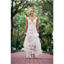 бесплатная доставка рукавов кружева открытой спиной 2020 2021 новые платья свадебные платья партии лето белый на заказ свадебные платья
