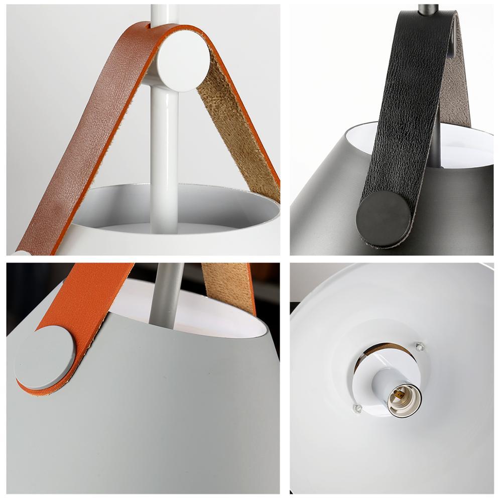 Restaurant pendentif éclairage cuisine pendentif lampe salle à manger lumière LED nordique lumière moderne suspension pour chambre salon - 5