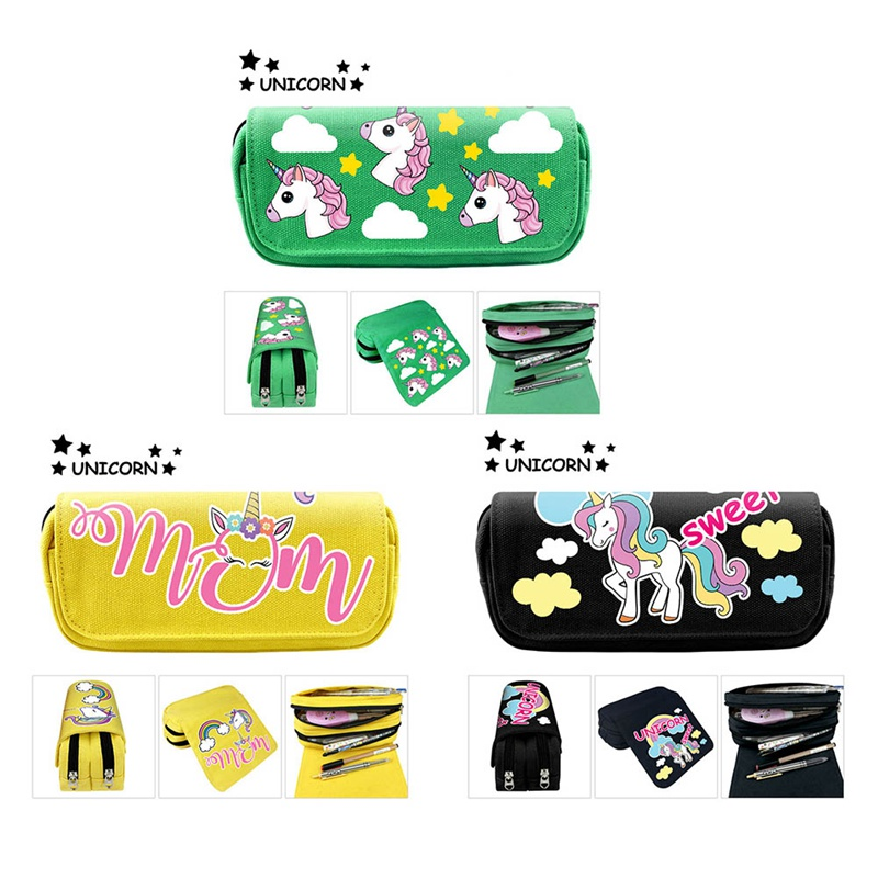 Cute Unicorn <font><b>Big</b></font> Capacity <font><b>Pencil</b></font> <font><b>Case</b></font> Quality <font><b>Pencil</b></font> Pouch Unicorn <font><b>School</b></font> Supplies <font><b>Kawaii</b></font> Stationery Pencilcase <font><b>Pencil</b></font> Bag image