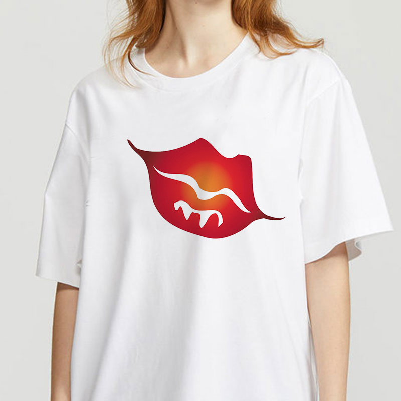 summer new Funny Sexy Slips T-shirt printed chic Harajuku Neck Casual retro top women's fashion T-shirt