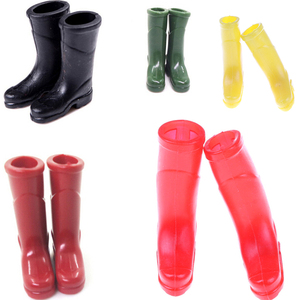 1Pairs 1/12 Scale Dollhouse Miniature Rubber Rain Boots Umbrella Home Garden Yard Decoration Dolls Accessories(China)