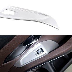 Image 2 - Jeazea 4 pcs 실버 플라스틱 자동차 도어 팔걸이 패널 핸들 홀더 창 리프트 스위치 버튼 커버 트림 맞는 bmw 3 시리즈 2020