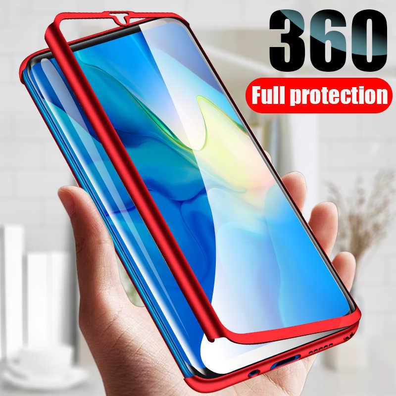 Lüks 360 tam kapak cam koruyucu telefon kılıfı için Huawei onur Y5 Y6 Y7 Y9 P akıllı Z Pro artı başbakan 2018 2019 arka kapak